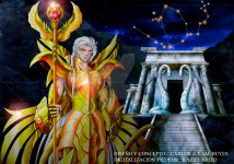 Ophiuchus Saint and his temple