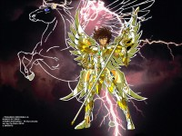 Seiya, with the cloth of Zeus